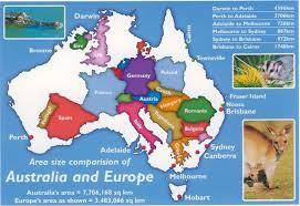 Europe and Australia map
