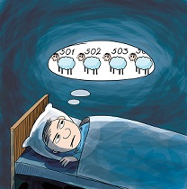 Counting Sheep Cartoon