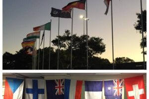 Flags Flying Outside and Inside – WELCOME!