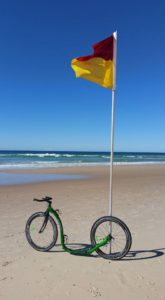 Kickbike and Beach Flag